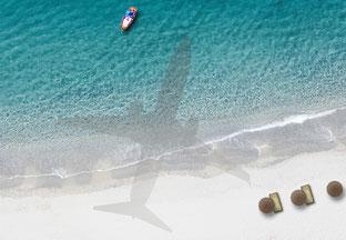 Ein Flugzeug überschreitet mehrere Zeitzonen