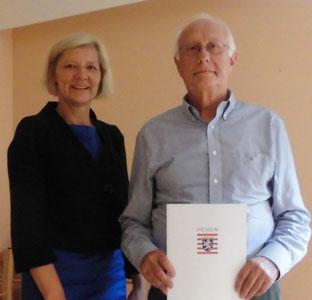 Ehrenbrief des Landes Hessen für Ottmar Weber