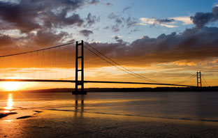Hängebrücke über den Humber. Courtesy TWI Ltd.