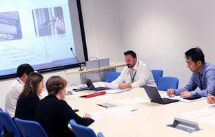 Ein Meeting während einer Machbarkeitsstudie am TWI