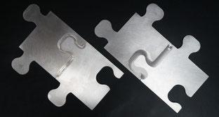 Rührreibschweißen von Puzzle-Teilen aus Aluminiumblech