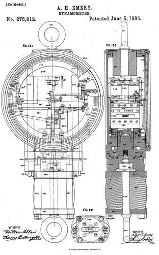 Zeichnung der Patentanmeldung Nr. 278,912 von 1881