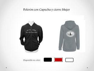 Poleron con Cierre y Capucha Mujer, para práctica de Tai Chi en WCTA Chile (ex CXWTA Chile)