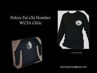 Polera Hombre Manga Larga Cuello Polo, para práctica de Tai Chi en WCTA Chile (ex Cxwta Chile)