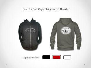 Poleron con Cierre y Capucha Hombre para práctica de Tai Chi en WCTA Chile (ex CXWTA Chile)
