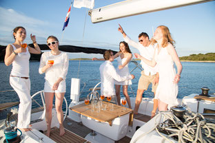 Bachelor party on yacht