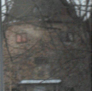Picture of a scary face Which is actually a house, watching you, watching me.