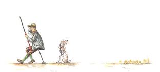 Thibault de Witte peintre animalier aquarelle scène de chasse