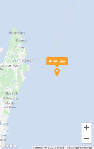 AIDAluna live // © Screenshot AIDA Cruises