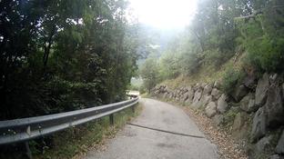 Alpen Steinschlag Italien Südtirol E5 Straße Wandern Berge