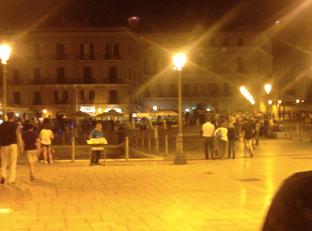 Altstadt Bari bei Nacht