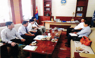 Education Performance Evaluation Meeting with Mongolian National University of Education