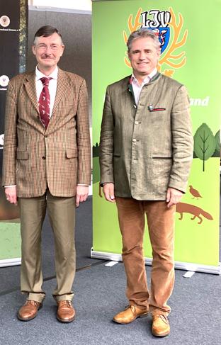 Dieter Mackenrodt mit dem Präsidenten des LJV Hessen Prof. Dr. Jürgen Ellenberger