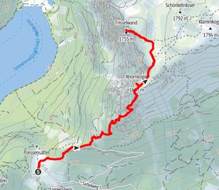 Route auf die Trisselwand und den Ahornkogel im Ausseerland