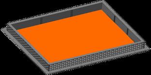 CAD-Modell einer rührreibgeschweißten Batteriewanne