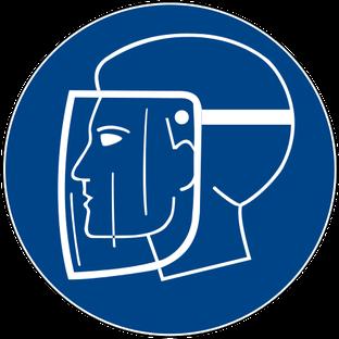 Gesichtsschutz benutzen beim Rührreibschweißen  (ersetztes oder zurückgezogenes Zeichen)