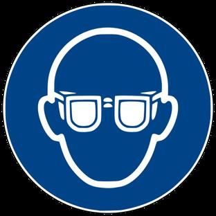 Augenschutz benutzen beim Rührreibschweißen