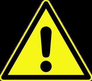 Warnung vor einer Gefahrenstelle beim Rührreibschweißen