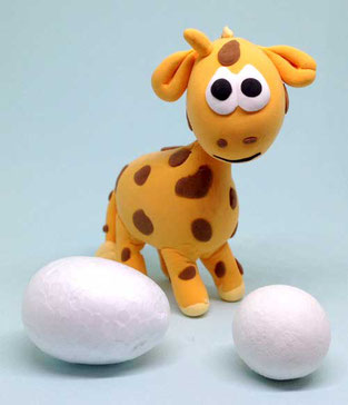 Spielwaren-Kroell, SilkClay, Seidenknete, basteln, Giraffe