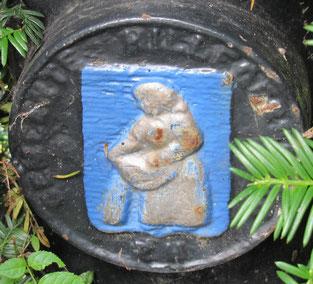 afbeelding Hillegonde op lantaarnpaal begraafplaats