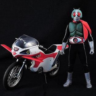 RAH メディコムトイ DX フィギュア 仮面ライダー新1号 Ver.2.5 & 新サイクロン号 2010