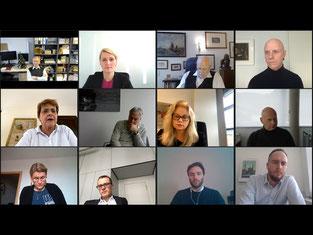 Mitglieder der Online-Konferenz Polit-Talk vom BBMV – Bundesverband der Betreiber medizinischer Versorgungszentren - BBMV