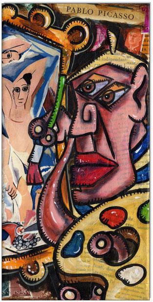 Picasso paints Les Demoiselles d'Avignon