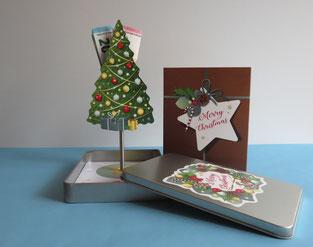 Verpackung Geldgeschenke Weihnachten mit Banderole