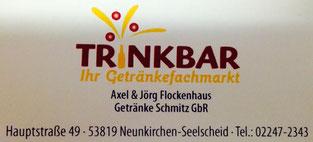"""Getränkemarkt """"TRINKBAR"""" aus Neunkirchen - Spender 2015, 2016 & 2017"""
