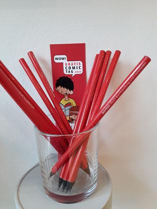 Limited Edition: Bleistifte und Lesezeichen für den Gratis Comic Tag!