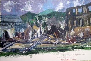 """Quai du commerce """"Dans les décombres"""" ASP 45x60"""