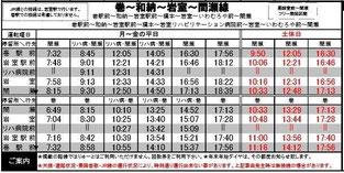岩室温泉 バス 時刻表