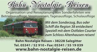 Bahn Nostalgie Reisen - Kontakt