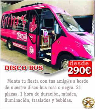 disco bus en cadiz para comuniones