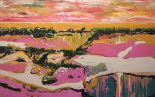 Budder bei de Fische, 2013, Öl auf Leinwand,150 x 240 cm