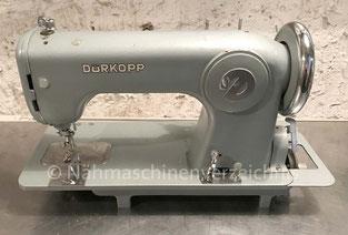 Dürkopp 1005, Flachbett Geradestich-Nähmaschine, Hersteller Dürkopp AG, Bielefeld, 1956 (BIlder: Nähmaschinenverzeichnis)