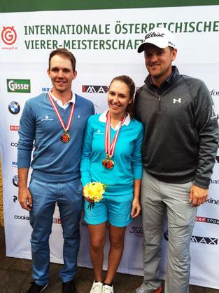 Staatsmeister 2016 mit Partnerin Katharina Mühlbauer!  Erster Gratulant Bernd Wiesberger!