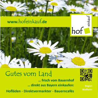 """Titelseite der Hofladen-Broschüre """"Gutes vom Land""""- Einkaufen auf dem Bauernhof"""