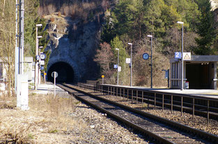 der gleiche Tunnel im Herbst, Richtung Neuhaus