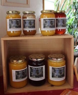 pots de miel de miel et goûter d'antan en deux sevres