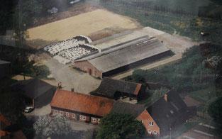 Milchviehbetrieb in den 90er Jahren. Kleiner landwirtschaftlicher Betrieb