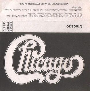 Die AMIGA-Lizenz-Musikkassette von 1979 mit einem Best Of - mit dem Chicago-Schriftzug
