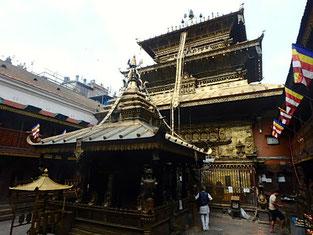 12世紀に建設されたゴールデン・テンプル(黄金寺院)はパタンでも重要な寺院。