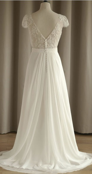 robe de mariée décolleté dos dentelle région parisienne 78