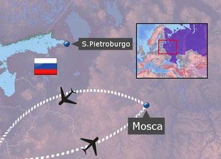 mappa tour Mosca