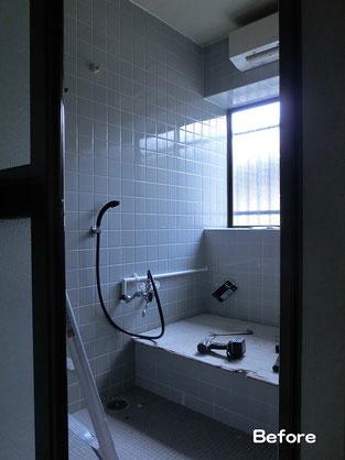 タイル張り浴室(解体前)