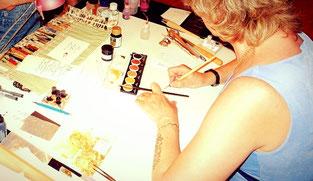 Coliro Gold - Wasserfarben sind einfach wundervoll. Sehr gut zum Kalligrafieren und toller Glitzer!