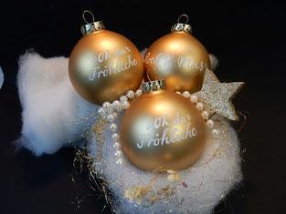"""Weihnachtskugel """"Oh du fröhliche"""""""