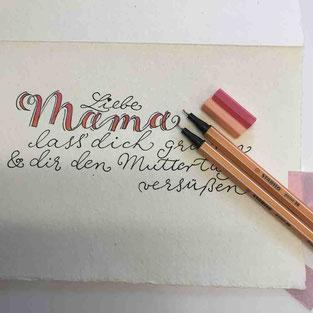 Mit nur 2 verschiedenen Farben wird dein Lettering herausragend!