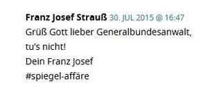 Eintrag eines USERS Franz Josef Strauss bei Netzpolitik.org